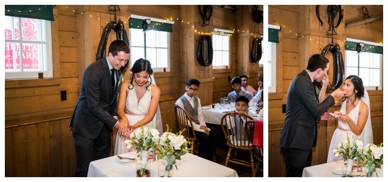 Calgary Reception Photography - Heritage Park Barn Wedding