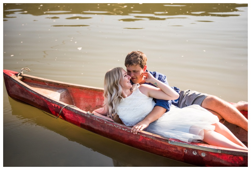 Calgary Canoing Engagement Photos