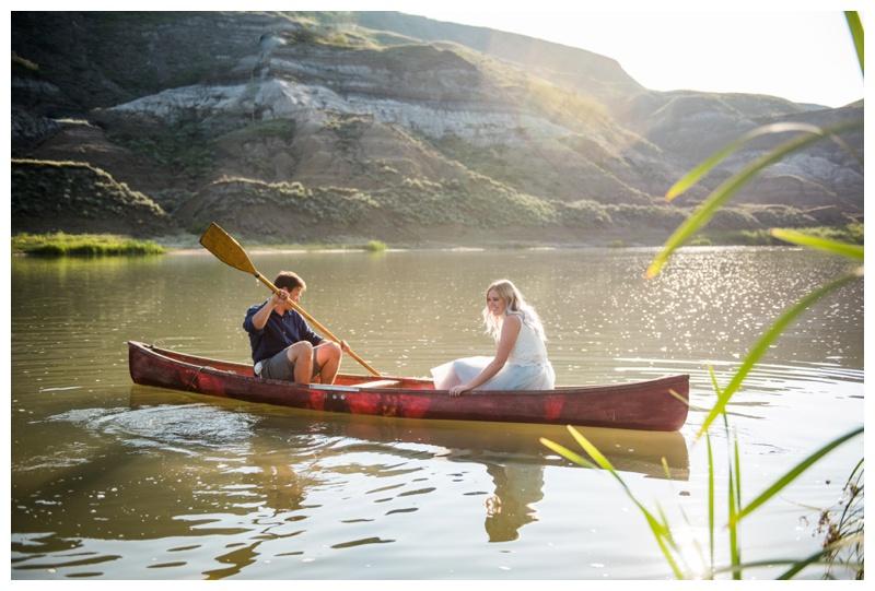 Canoeing Engagement Photography Calgary