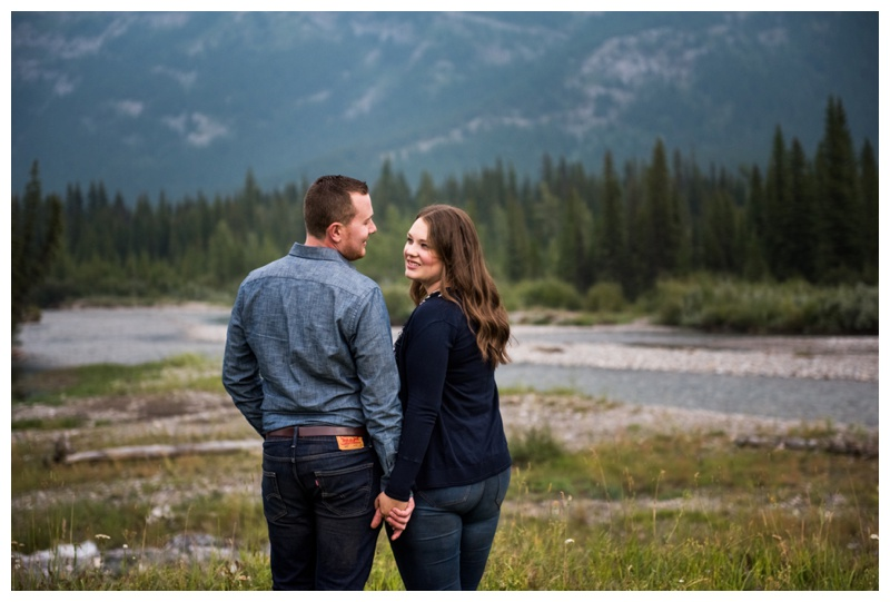 Kananaskis Waterfall Engagement Session