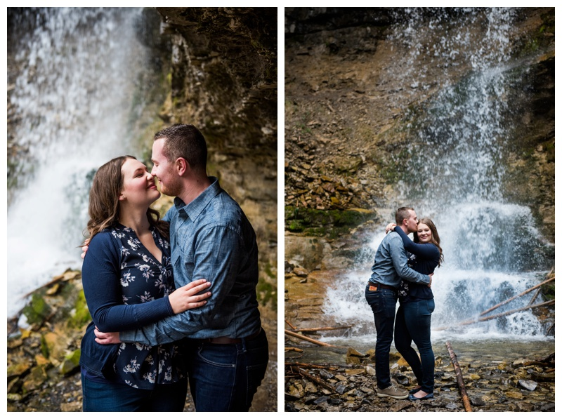 Waterfall Engagement Phtoos - Troll Falls Kananaskis