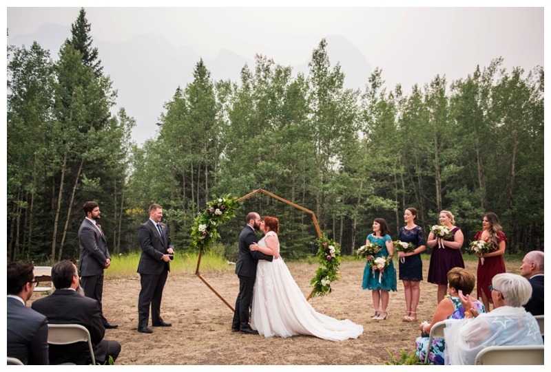 Outdoor Wedding Ceremony Canmore