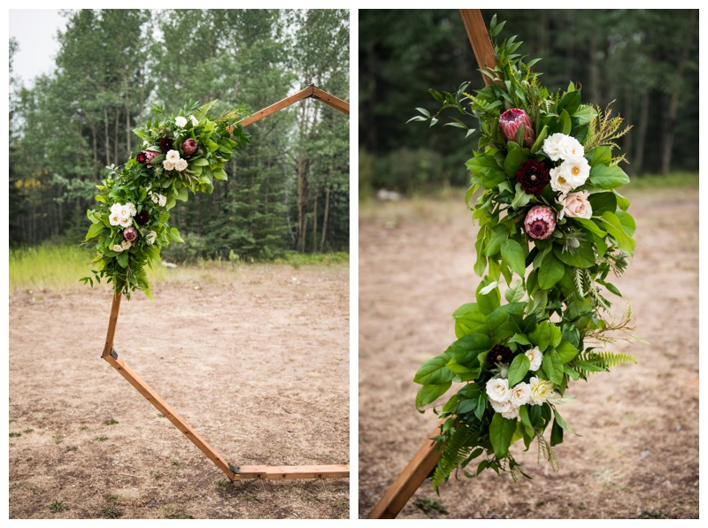 Rundle View Park Wedding Ceremony Canmore