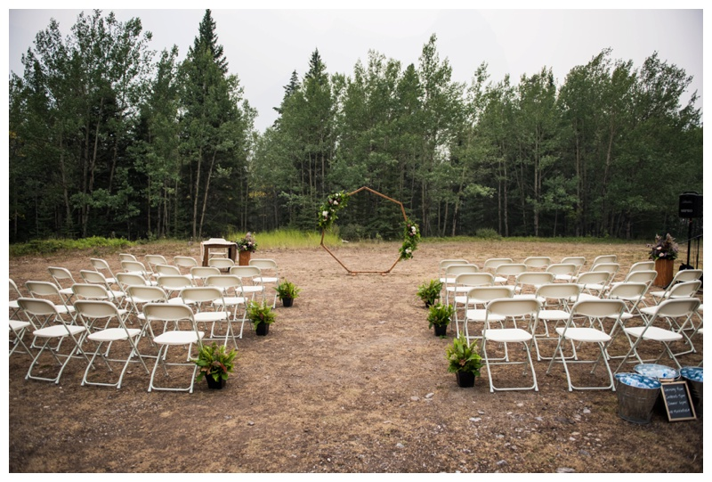 Rundle View Park Wedding Ceremony - canmore Alberta