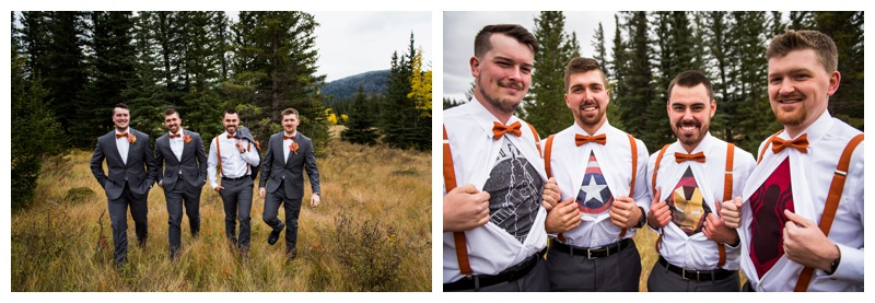 Marvel Wedding Party Photography - Canmore Alberta