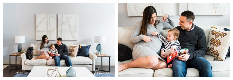 In Home Maternity Photos Calgary