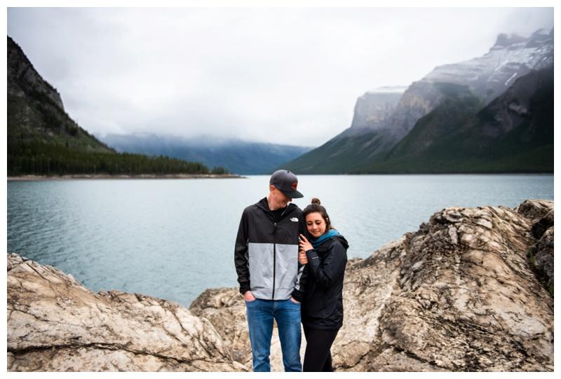 Lake Minniwanka Banff Engagement Photography