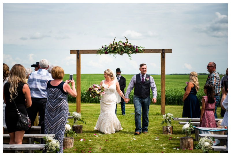 Willow Lane Barn Wedding Ceremony Olds