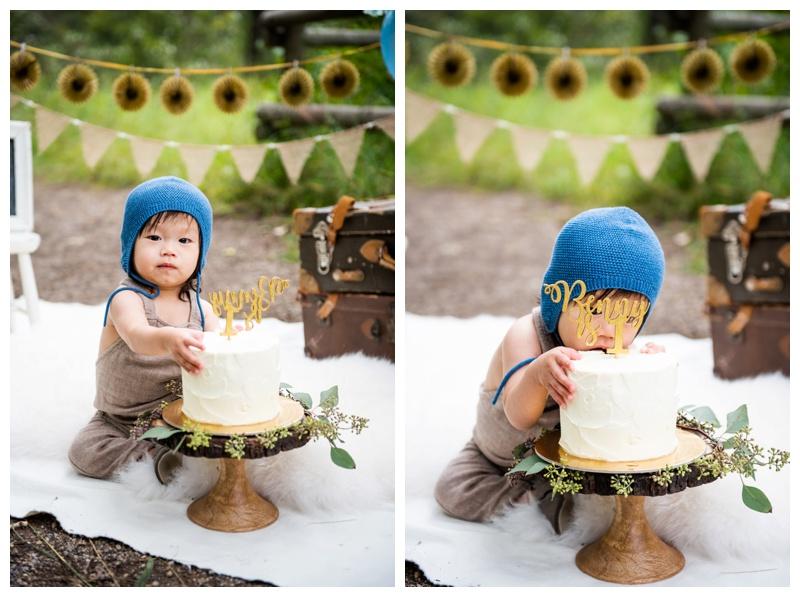 Calgary 1st Birthday Cake Smash Photographer