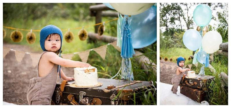 Calgary 1st Birthday Cake Smash Photographers
