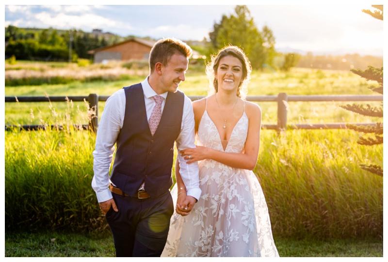 Calgary Sunset Wedding Photos