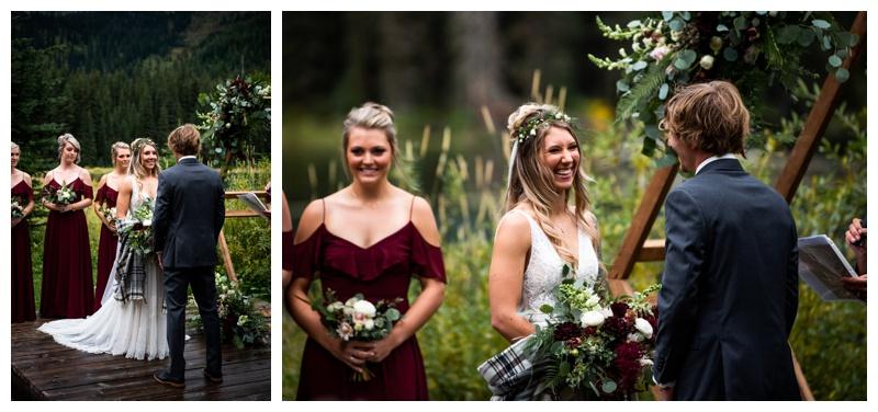 Fernie Island Lake Lodge Wedding Ceremony Photographers
