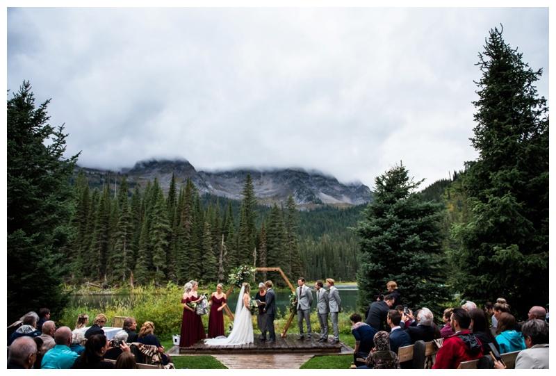 Fernie Island Lake Lodge Wedding Ceremony Photography