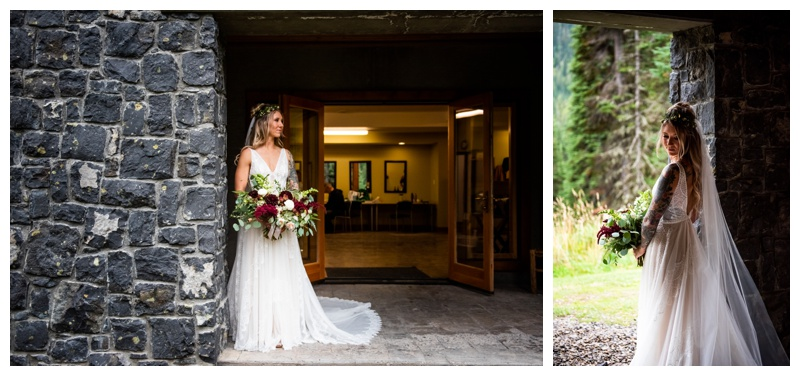 Island Lake Lodge Wedding Bride