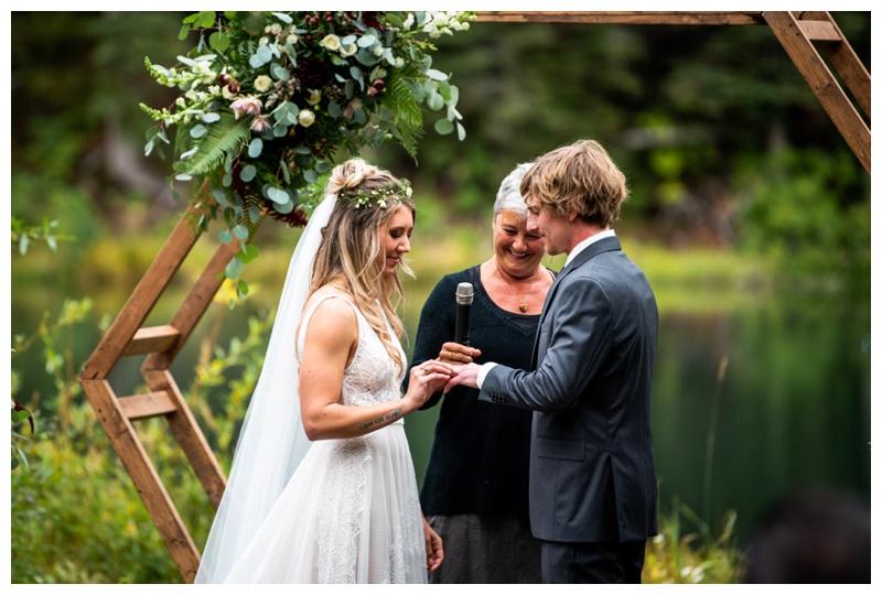 Island Lake Lodge Wedding Ceremony Photography Fernie