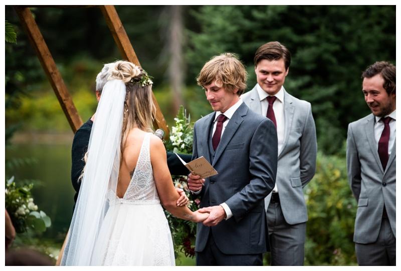 Island Lake Lodge Wedding Ceremony Photos Fernie