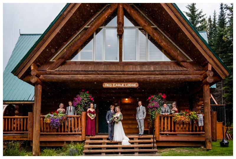 Island Lake Lodge Wedding Fernie - Wedding Party Photographer
