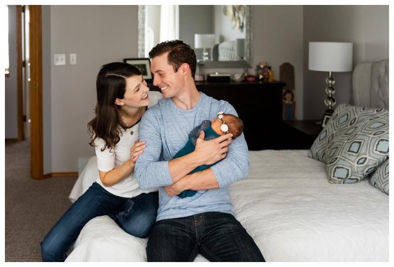 Calgary At Home Lifestyle Newborn Photo Session