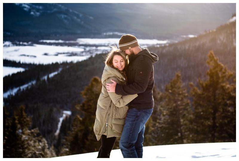 Banff Winter Wedding Proposal Photographer