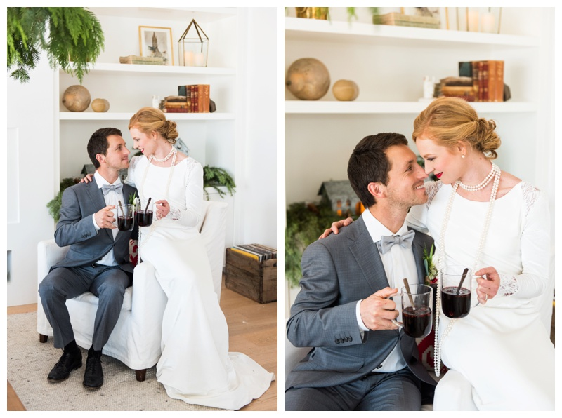 Calgary Scandinavian winter wedding shoot styled