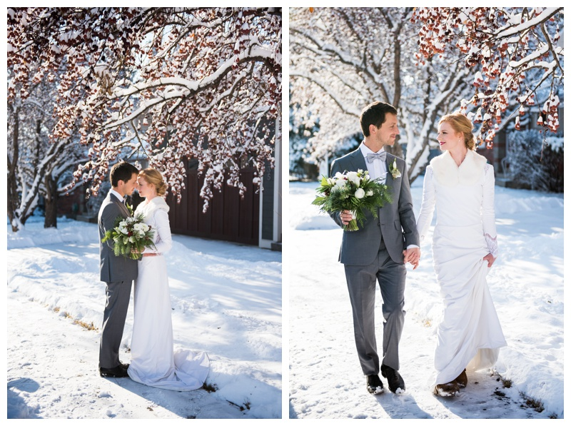 Scandinavian winter wedding Photography Calgary