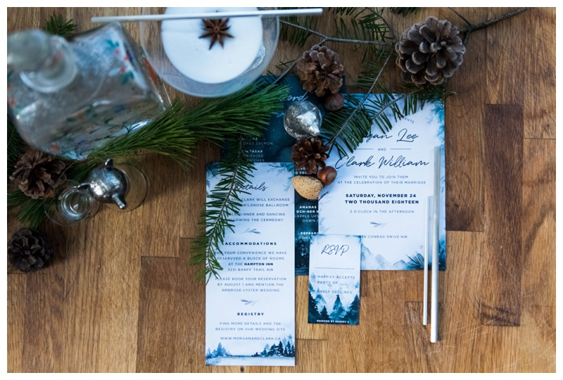 Winter Wedding Stationary Calgary