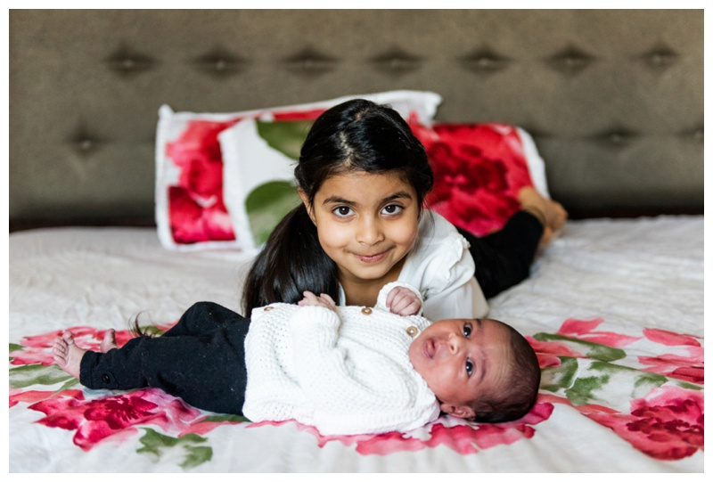 Calgary Winter In Home Newborn Photos