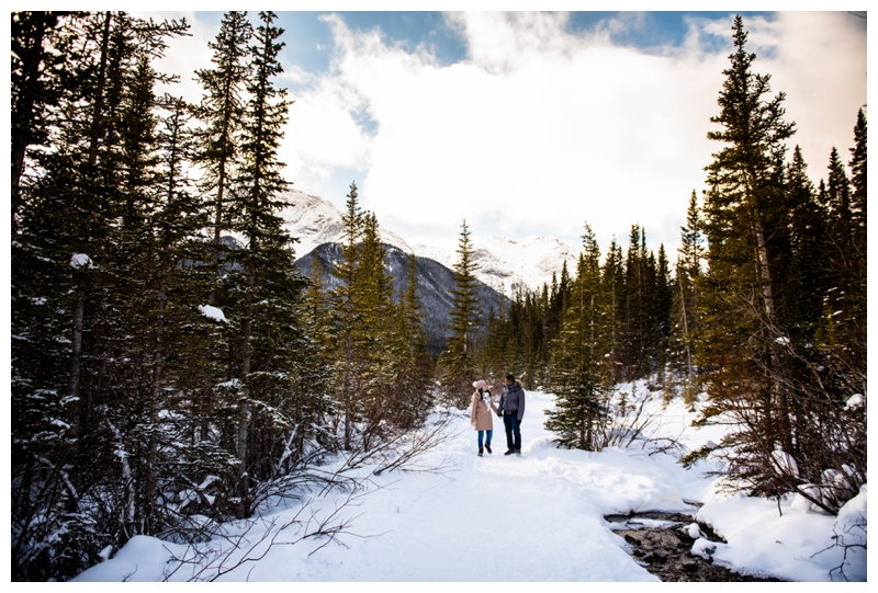 Canmore Winter Couple Photographer