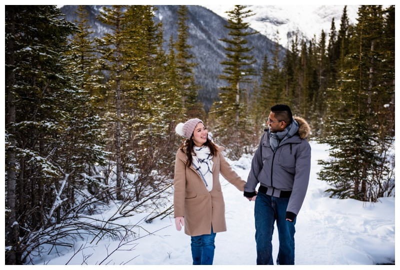 Canmore Winter Couple Photographers