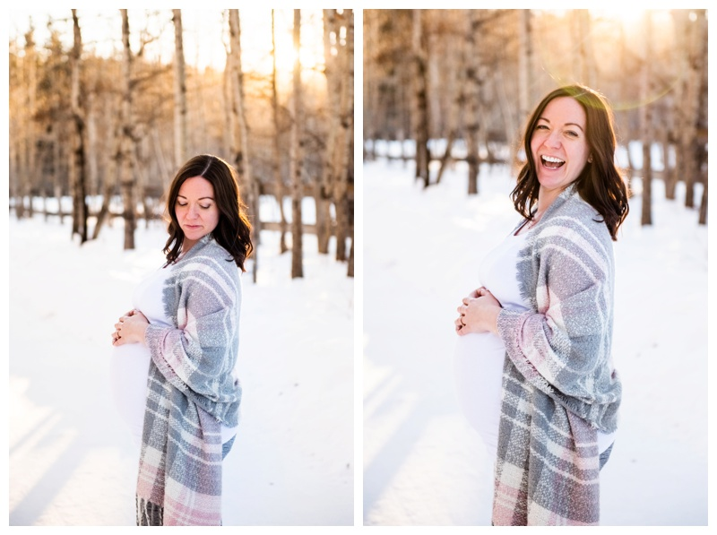 Winter Calgary Photographer - Maternity Session Calgary.
