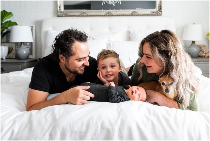Calgary At Home Lifestyle Newborn Photos