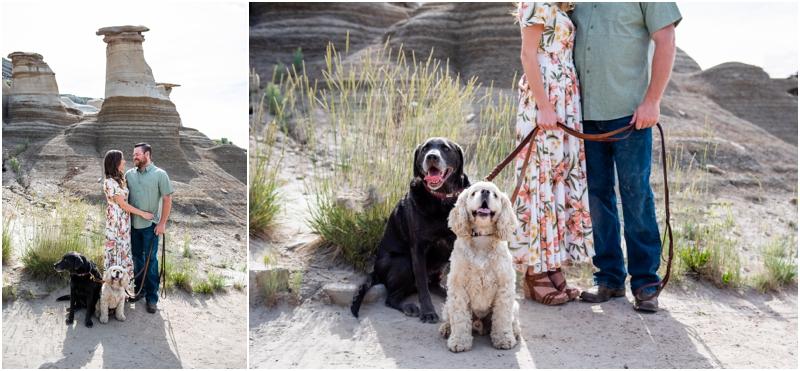 Engagement Photographers Drumheller AB Badlands