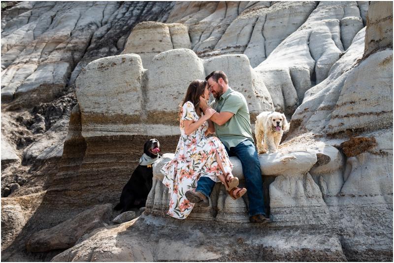 Hoodoo Trail Drumheller Engagement Photographer