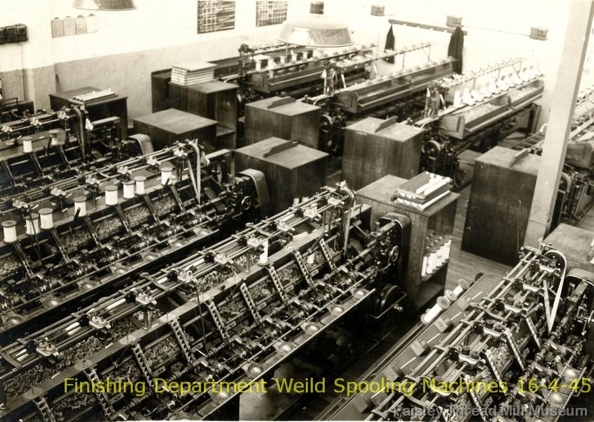 Finishing Department Weild Spooling Machines 16-4-45