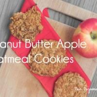 Peanut Butter Apple Oatmeal Cookies