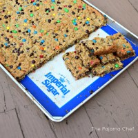 Flourless Monster Cookie Bars (Gluten Free)