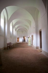 Inside the monastery in Plasy