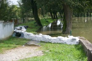 Sandbags preventing even more flooding in Croatia
