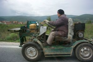 Macedonia...not sure what kind of vehicle this is