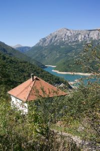 View over Pluzine, Montenegro