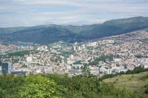 Sarajevo: Here the snipers was located and shoot into the city