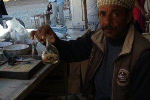 konstverk av sand i Petra