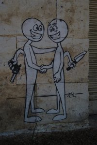 Graffiti on the israel side of Hebron