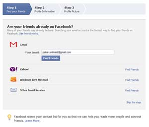 Mencari teman untuk pertama kali di Facebook  Cara membuat akun Facebook Mencari teman untuk pertama kali di Facebook