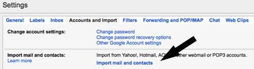 Cara memasukkan email dan kontak ke gmail