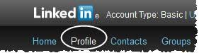 Masuk ke LinkedIn kemudian klik profile  Cara menambahkan photo untuk profil LinkedIn Masuk ke LinkedIn kemudian klik profile
