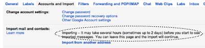 Proses migrasi email dan kontak ke gmail