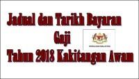 Jadual Gaji Kerajaan 2018