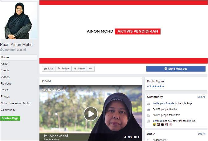 Facebook Puan Ainon