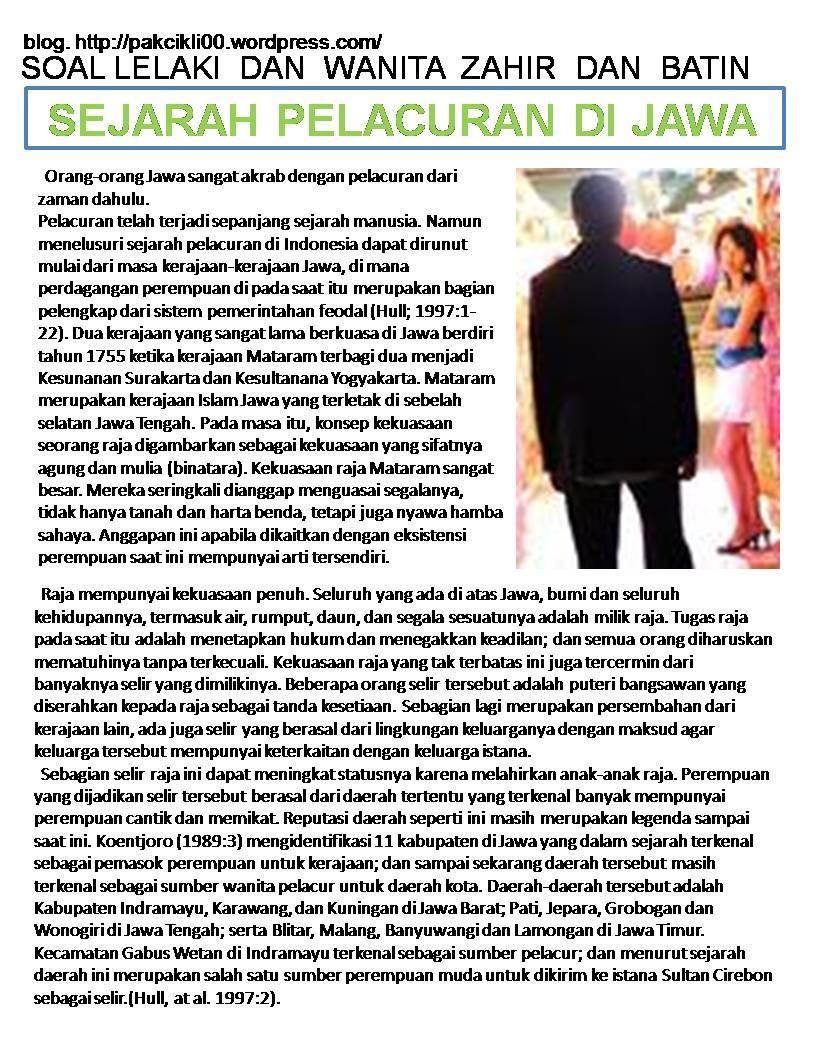 sejarah pelacuran di Jawa
